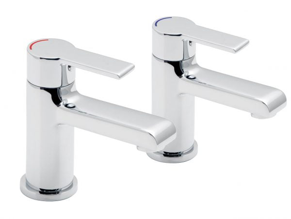 Vado Ion modern pair of bath pilar taps ION-136-C/P
