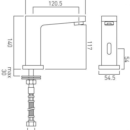 Vado Life infra-red mono basin mixer IR-100/LIF-C/P