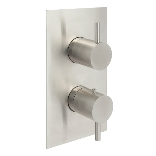 Just Taps Plus Inox Stainless Steel Thermostatic Shower Valve