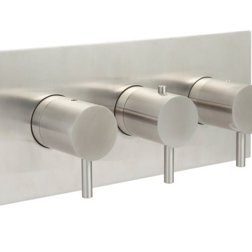 Just Taps Plus Inox IX693A Stainless Steel 2 Outlet 3 Handles