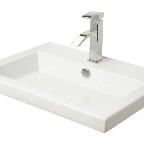MIllers Rectangular White Basin Full Cover 605Mm 110W1