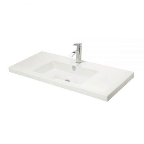 Millers Rectangular Full Cover White Ceramic Basin 800mm