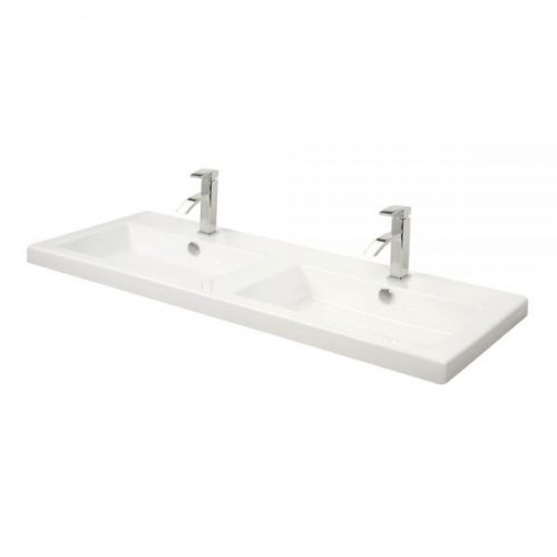 Millers Rectangular Full Cover White Basin 1210mm