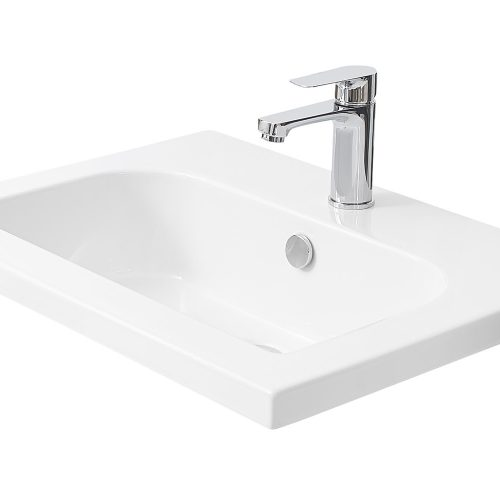 MIllers D Shape White Ceramic 610mm Basin 120W1