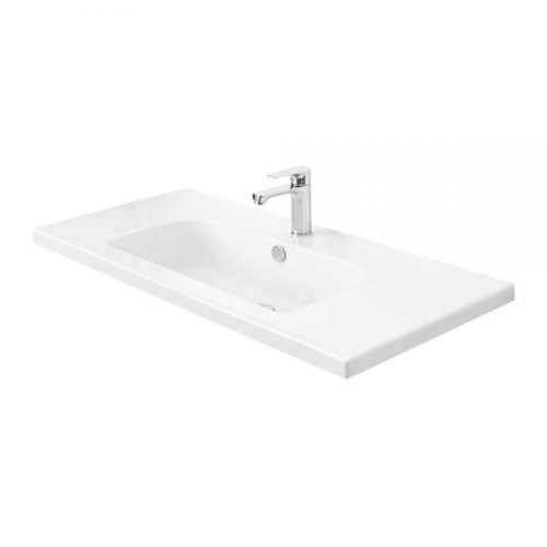 Millers D-Shape White Ceramic Basin 1010mm
