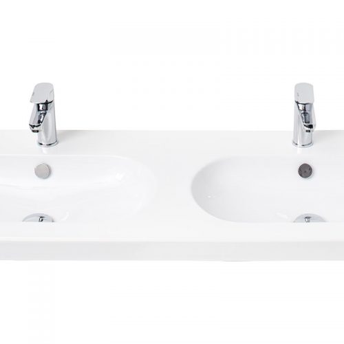 Millers Oval White Ceramic Basin 1200mm