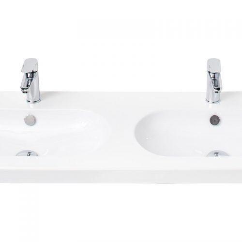 Millers Oval White Ceramic Basin 1200mm