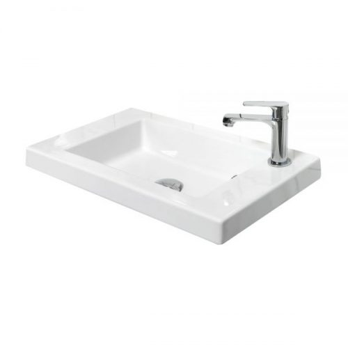 Millers New York 60cm Rectangular White Ceramic Basin