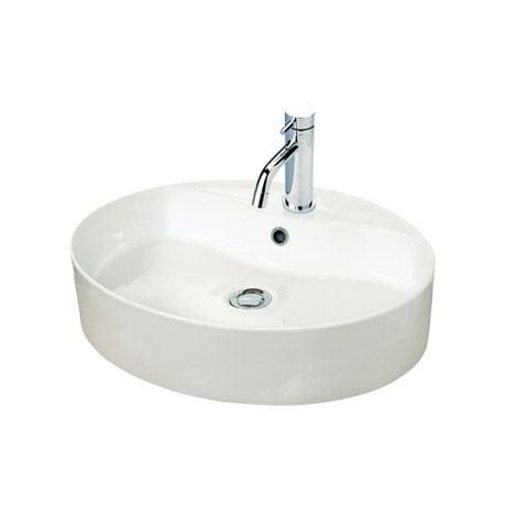 Millers New York Oval White Ceramic 550mm Basin