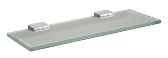Miller Classic 300mm Frosted Glass Shelf Inc Chrome Brackets