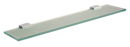 Miller Classic 450mm Frosted Glass Shelf Inc Chrome Brackets