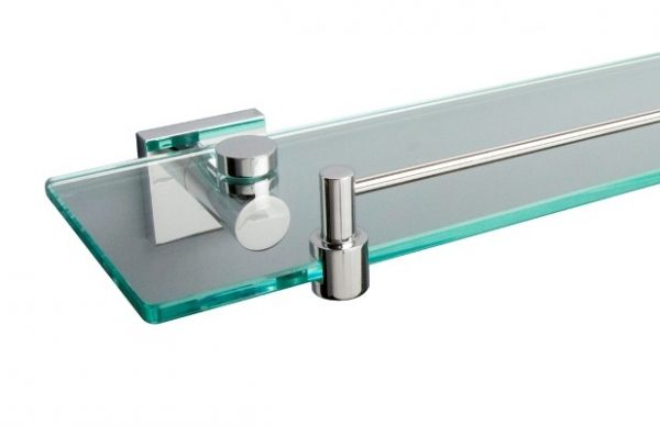 Miller Classic 600mm Frosted Glass Shelf Inc Chrome Brackets