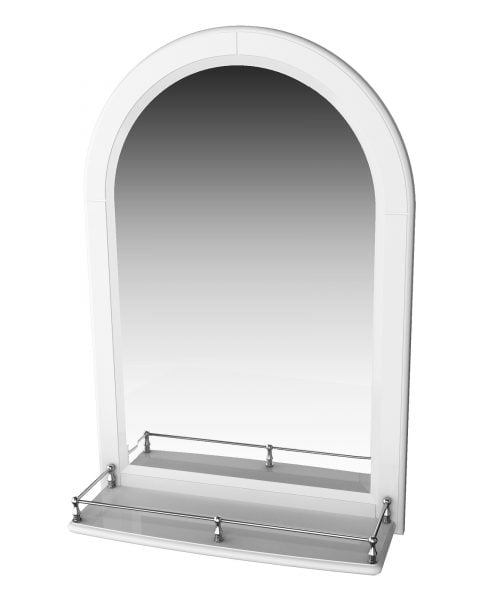 Millers Traditional Arched Mirror Cabinet With Guard Rail