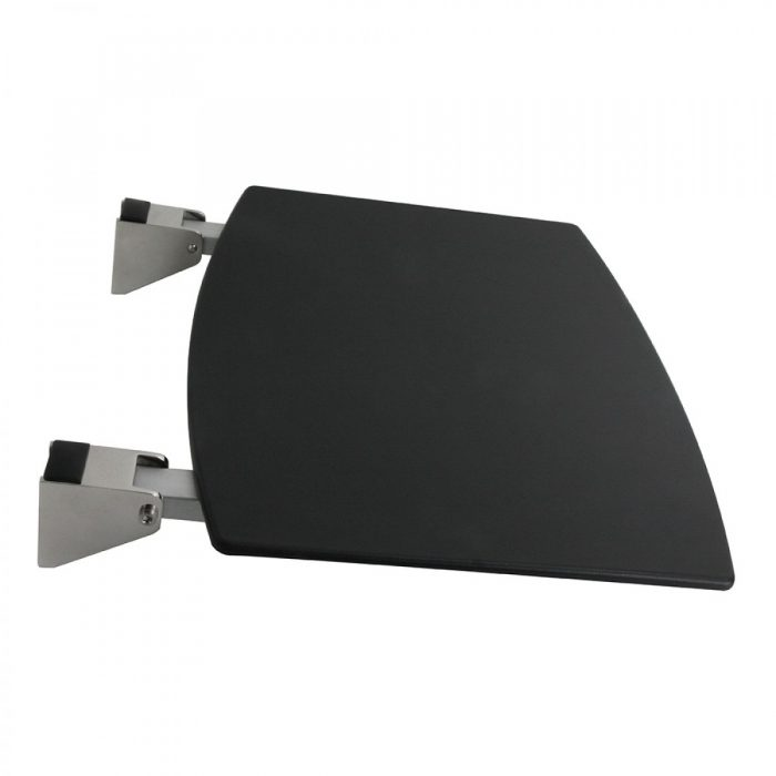 Miller Classic Wall Mounted Black Shower Seat