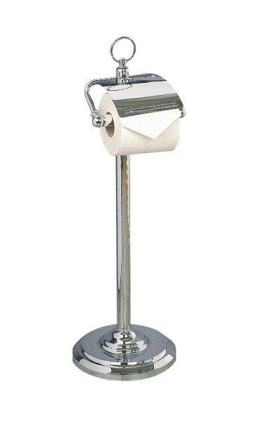 Miller Classic Freestanding Chrome Covered Toilet Roll Holder