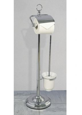 Miller Classic F/Standing Roll Holder And Toilet Brush Set