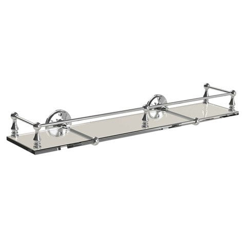 Miller Stockholm Glass Shelf With Chrome Guard Rail