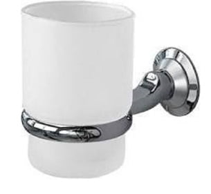Millers Metro Satin Chrome Frosted Glass Tumbler Holder