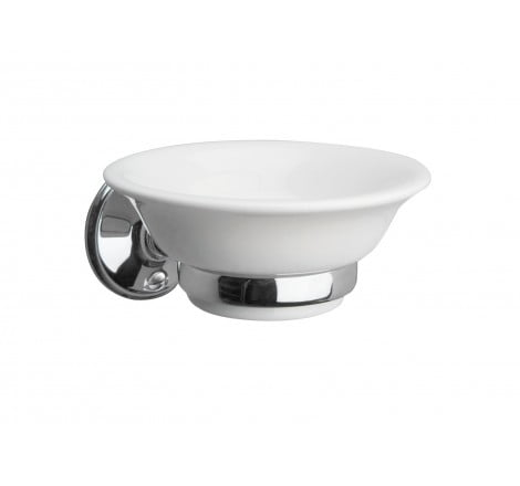Miller Stockholm White Ceramic Soap Dish And Holder