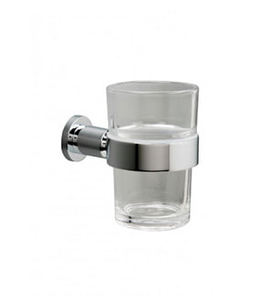 20% OFF Millers Denver Clear Glass Tumbler And Chrome Holder