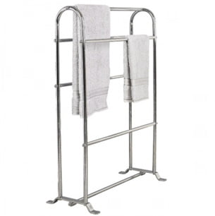 Miller Classic Chrome Free Standing Towel Horse Holder