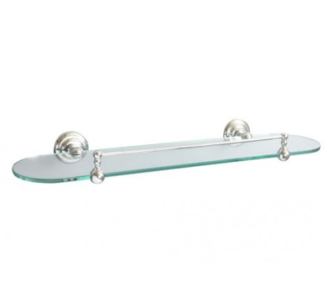 Miller Richmond Wall Mounted Hardened Clear Glass Shelf