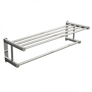 Miller Classic Chrome Wall Mounted Double Towel Rack