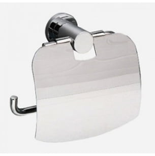 Miller Montana Chrome Toilet Roll Holder With Cover