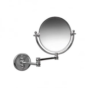 "Miller Classic Chrome Double Arm Wall Mounted 8"" Mirror"