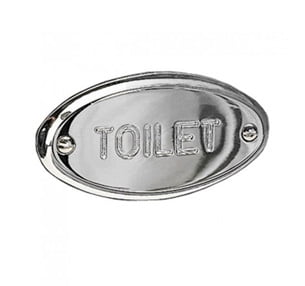 Miller Classic Chrome Finish Oval Toilet Sign