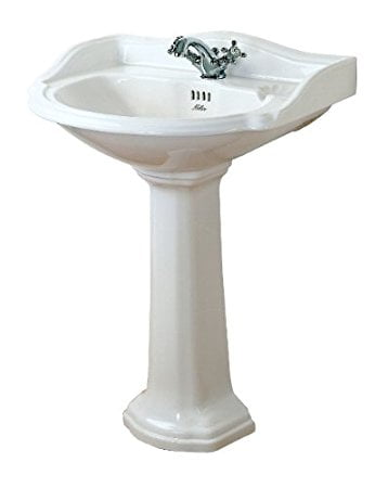 Millers Traditional White Ceramic Basin Pedestal Only