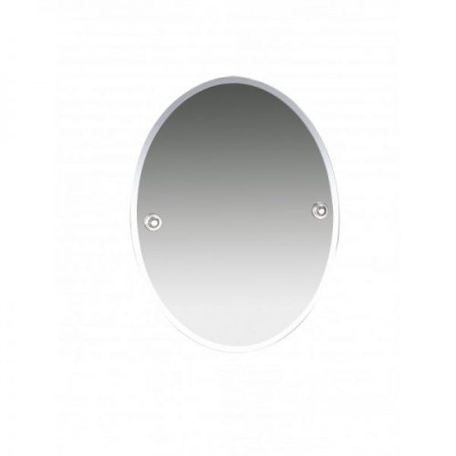 Miller Oslo Chrome Bevelled Oval Wall Mounted Mirror