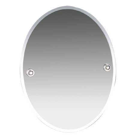 Miller Oslo Chrome Oval Bevelled Wall Mounted Mirror