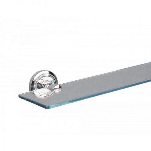 Miller Oslo Clear Hardened Glass Shelf Chrome