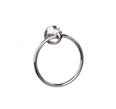 Miller Oslo Chrome Wall Mounted Round Towel Ring-0