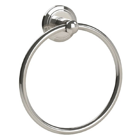 Miller Oslo Wall Mounted Round Polished Nickel Towel Ring