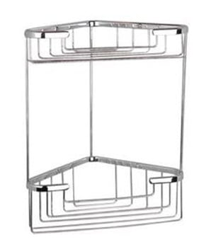 Miller Classic Polished Nickel Two Tier Corner Soap Basket