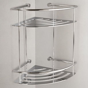 Miller Classic Chrome Plated Corner 2 Tier Shower Shelf