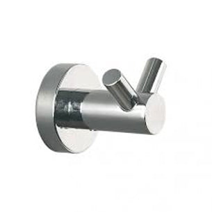 Millers Bond Chrome Wall Mounted Double Robe Hook