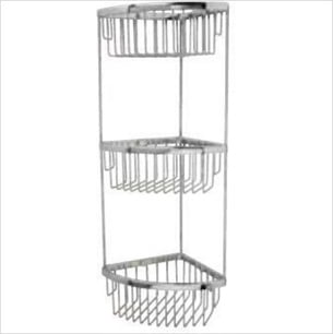 Miller Classic Chrome Triple Corner Shower Basket