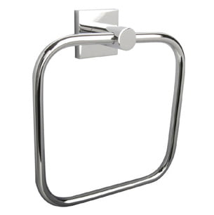 MIllers Atlanta Chrome Round Plated Towel Ring-0