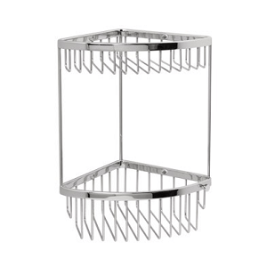 Miller Classic Copper Corner Mounted Two Tier Basket