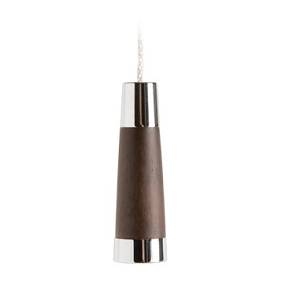Miller Classic Solid Dark Oak Finish Conical Light Pull