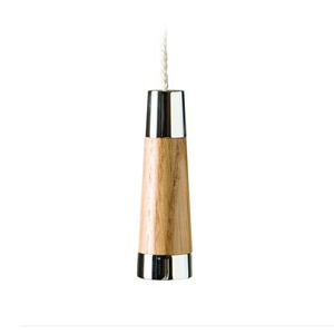 Miller Classic Solid Natural Oak Finish Conical Light Pull