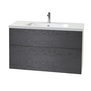 Millers New York 100cm 2 Drawer Black Oak Vanity Unit-0