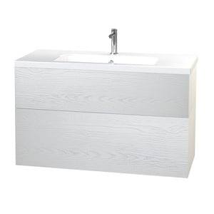 Millers New York White Structure 2 Drawer Basin Unit Only