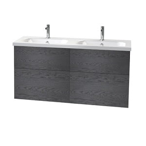 Millers New York 120cm 4 Drawer Black Oak Vanity Unit
