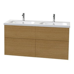 Millers New York 120cm Natural Oak 4 Drawer Vanity Unit-0