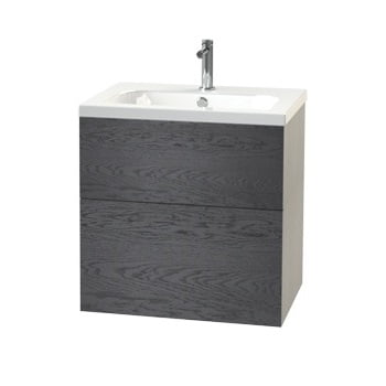 Millers New York Black Oak 2 Drawer Vanity Unit 288-4