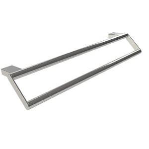Millers Boston Chrome Wall Mounted Double Towel Rail